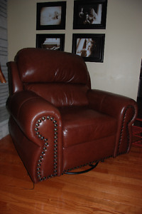 Beautiful leather recliner