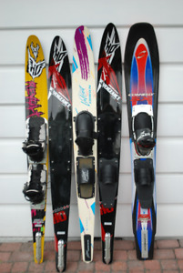 slalom waterskiis and bindings