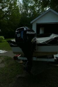 Boat, motor, and trailer for sale