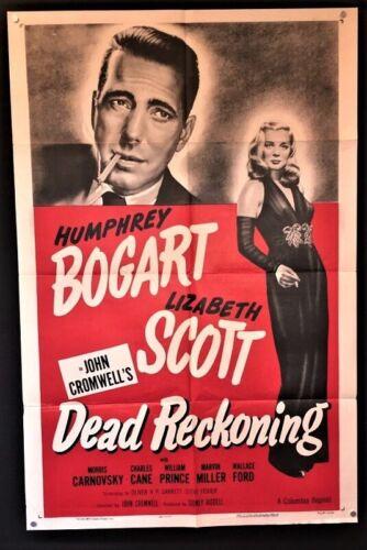 Dead Reckoning Original Movie Poster Humphrey Bogart - Scott *Hollywood Posters*