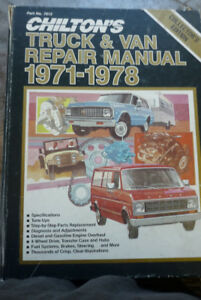 Chilton Truck and Van manual 1971-1978
