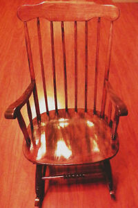 Beautiful Walnut Rocking Chair