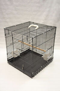 "18""X19"" Heavy Duty Folding Parrot Travel Carrier Bird Cage"
