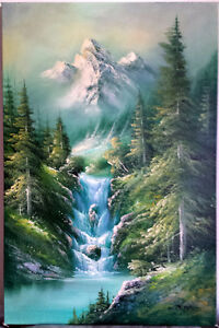 Waterfall Oil Paint