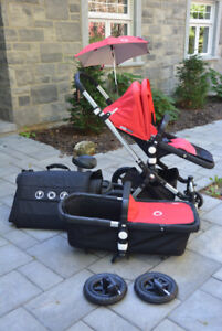 Poussette Bugaboo Cameleon Rouge