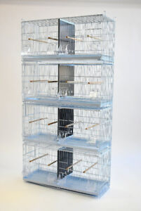 """30"""" Stackable Double Breeding Cage for Canary Finch Sisken"""