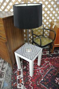 Mid Century Modern Danish Teak Chrome Coffee Tables Side Tables