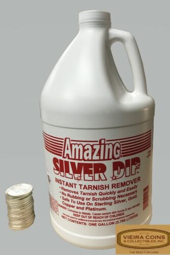 Amazing Silver Dip, Coin Dip Cleaner Gold Silver Platinum Copper 1 Gallon #78512