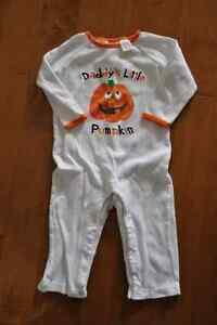 Embroidered Daddy's Little Pumpkin Halloween Outfit