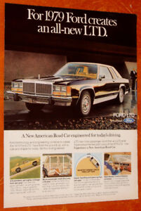 1979 FORD LTD COUPE VINTAGE 11 X 14 AD - ANONCE RETRO ANNEE 70