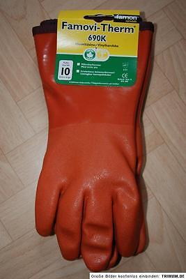 Famon Thermo Handschuhe Arbeitsschuhe Fischer Gr 9  M-L