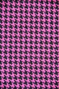 Lovely Fuchsia & Black Suiting & Lining Fashion Fabric