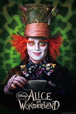 Alice im Wunderland Poster Hutmacher (Johnny Depp) mit (Hutmacher Alice Im Wunderland)