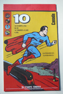 Rare 1995 Canada Post Canadian Superheroes Book of 10 Stamps