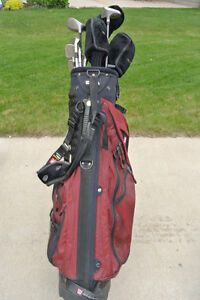 Left Handed Golf Clubs and Bag with Stand