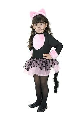 Miss Kitty Cat Kitten Animal Black Pink Cute Dress Up Halloween Child Costume