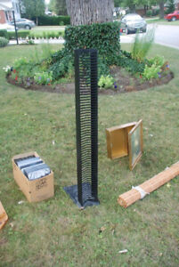 $5  CD storage tower - metal, very sturdy.  X posted PU fountain
