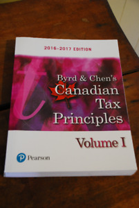 Byrd & Chen's Canadian Tax Principles Volume 1