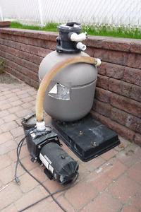 Pompe et filtre de piscine