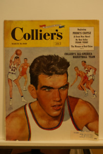 Colliers All American Basketball team 1949 4 page spread