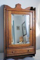 Magnifique pharmacie antique en chêne - Oak medecine cabinet