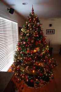 7.5 Ft Pre-Lit Avalon Fir Tree 3132 tips and 1200 mini-lights
