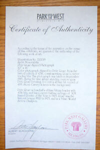 Autographed & Framed PETE ROSE photo w/ Cert. of Authenticity Kitchener / Waterloo Kitchener Area image 2