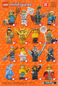 Complete Set of Series 15 Lego Minifigures in sealed packs