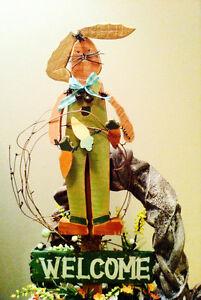 Easter Door Wreaths/Steaks/concrete basket planter