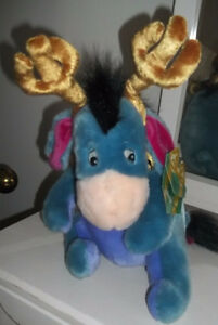 Eeyore Jingle Bells Antlers Plush Winnie the Pooh Toy