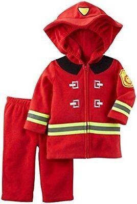 Carter's Toddler Firefighter Costume Fireman Baby 6-9 mos Dress Up Halloween New - Toddler Fireman Halloween Costume