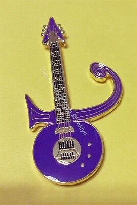PRINCE LOVE SYMBOL PURPLE RAIN - PURPLE GUITAR TRIBUTE PIN