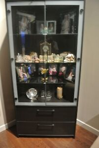 Black stained curio cabinet