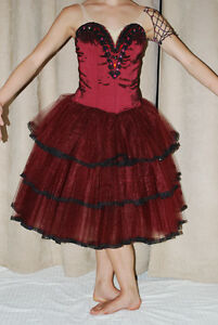 Ballet Tutu - Burgandy Spanish Professionally Made