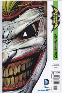 Batman Robin #15 Die-Cut Joker Mask variant cover comic book