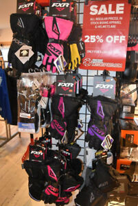 25% OFF IN STOCK WINTER RIDING APPAREL AND HELMETS