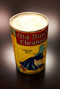Collectible Antique Old Dutch Cleanser Tin (all original!)