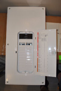 NEW, single phase 240 volt, 200 amp electrical panel