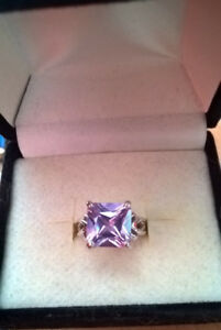 Costume Jewellery Amethyst Ring, Big Stone Ring Designs