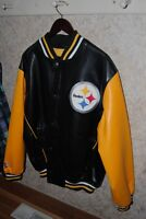 Pittsburgh Steelers Leater Bomber Jacket Extra large