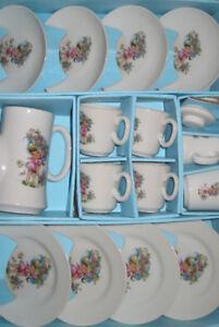 vintage china, miniature tea set