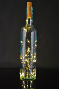 Stunning LED lit wine bottles - great gift, wedding centerpiece