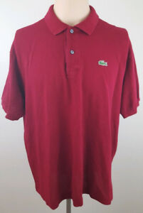 LACOSTE Mens Lot of 3 Short Sleeve Polo Shirts Size 7 / XL