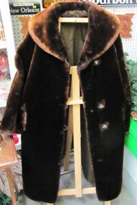 Sheared Mouton Fur Coat