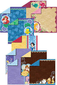 6x6 Disney Princess Double-Sided Paper Pack 18-sheets Scrapbooking HOTP