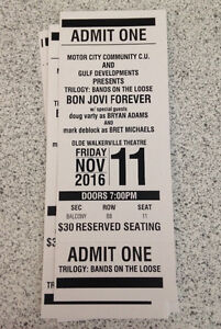 Bands on the Loose- Bon Jovi Forever Tickets