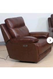 genuine leather electric recliner from Wayfair 🔥BNIB🔥 brown