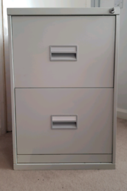 office pedestal filing cabinet metal white with 2 drawers