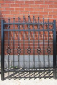 """ALUMINUM GATE 51"""" wide, 6 ft high – Surplus Inventory – SAVE 60%"""