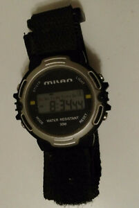 Men's Digital,Water Resistant Sports Watch w/Velcro Band +Manual
